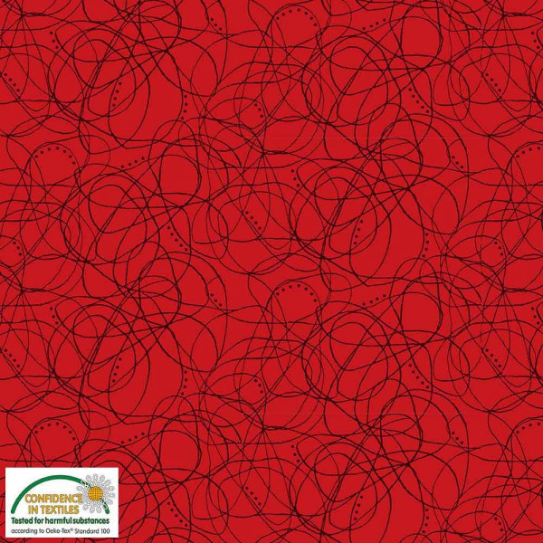 Patchwork - Quilters Combination - Liniengewirr - rot
