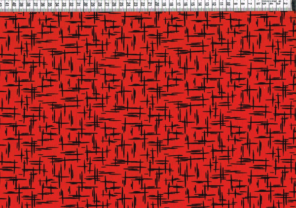 Patchwork - Ruby Night by Clothworks - Striche rot