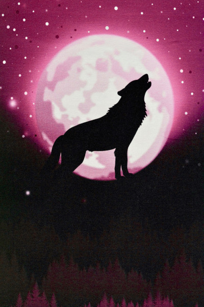 Jerseypanel - Wolf Moon by lycklig design - rot